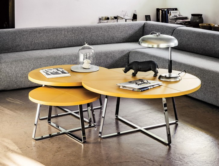 Nesting living room tables give everyone a surface of their own