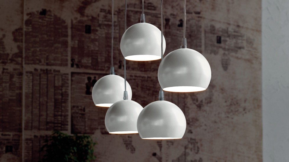 Modern hanging lights that complement and living room or dining room