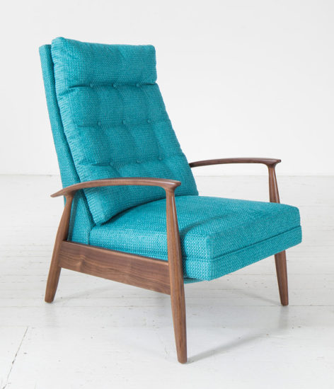 circle-furniture-bright-blue-arm-chair