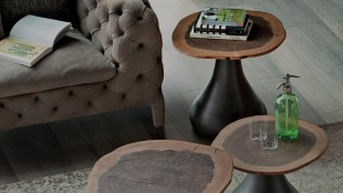 Bring the country to the city with these rustic end tables