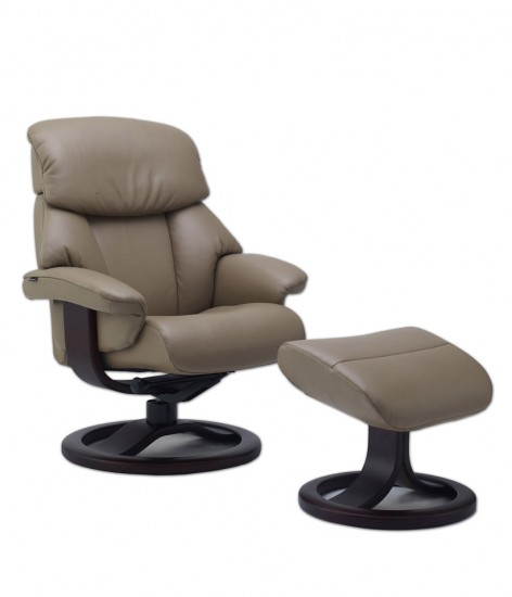 Kick back and relax in this luxury armchair and footrest