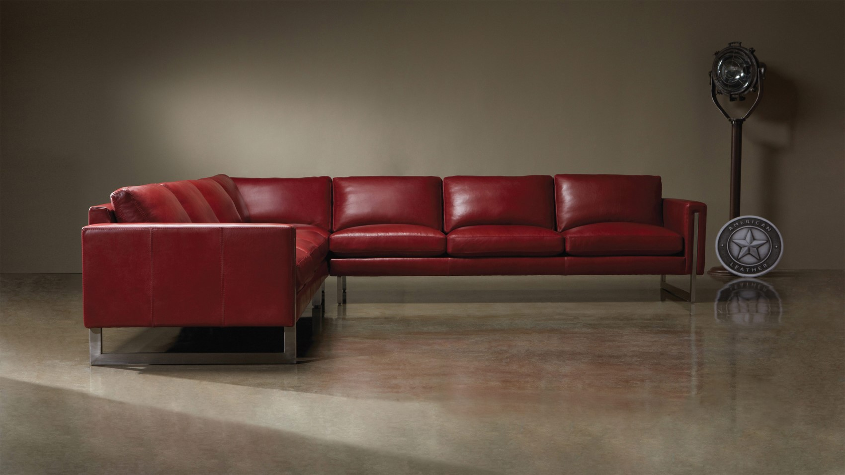 If This Deep Red Leather Couch Doesn T Catch Your Eye Nothing Will